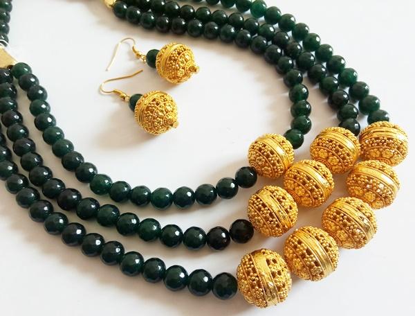 Matt Gold Beads
