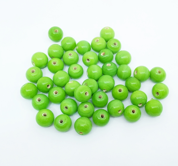 10mm Opaque Glass Beads