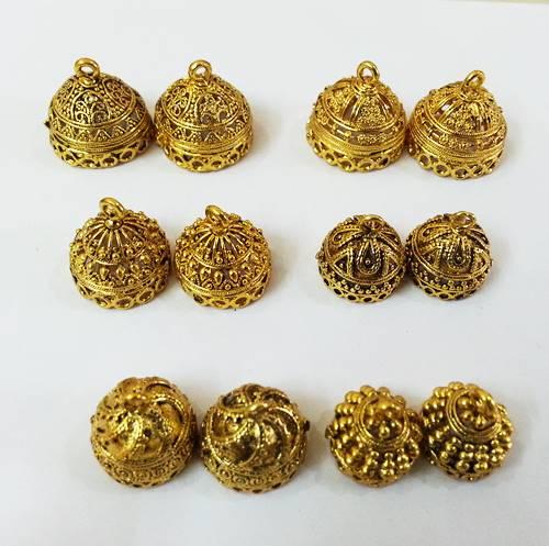 Antique Gold Jhumka Frames