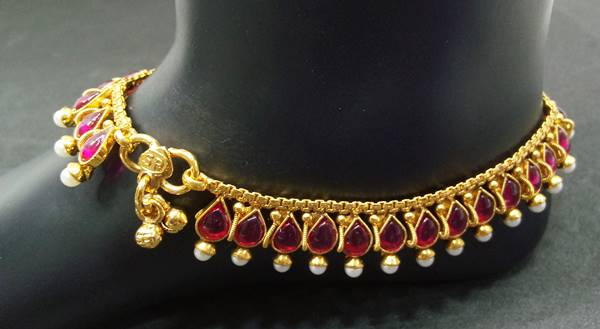 Antique Gold Anklets
